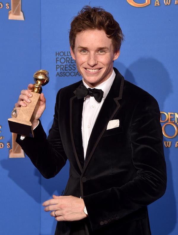 Eddie with his first Golden Globe